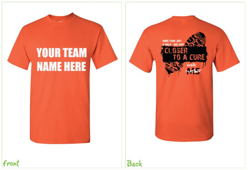walk ms team tshirt